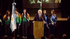 El gobernador encabezó el acto por el aniversario del Grito de Alcorta.