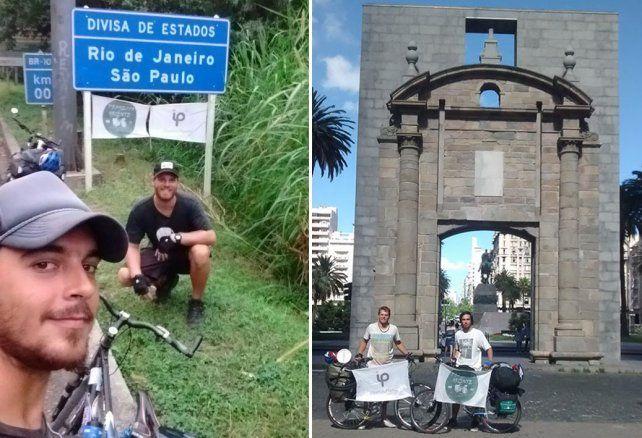 Gonzalo García y Agustín Alonso plasmaron su periplo en el sitio de Facebook Proyecto Oriente.