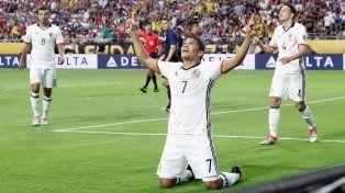 Bacca celebra su gol, que permitió el triunfo colombiano ante Estados Unidos.