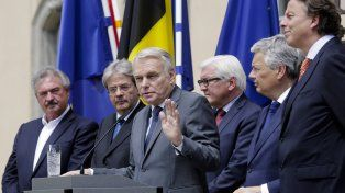 Clima agitado. Los ministros de UE se reunieron en Berlín para tratar el futuro del bloque tras la salida británica.
