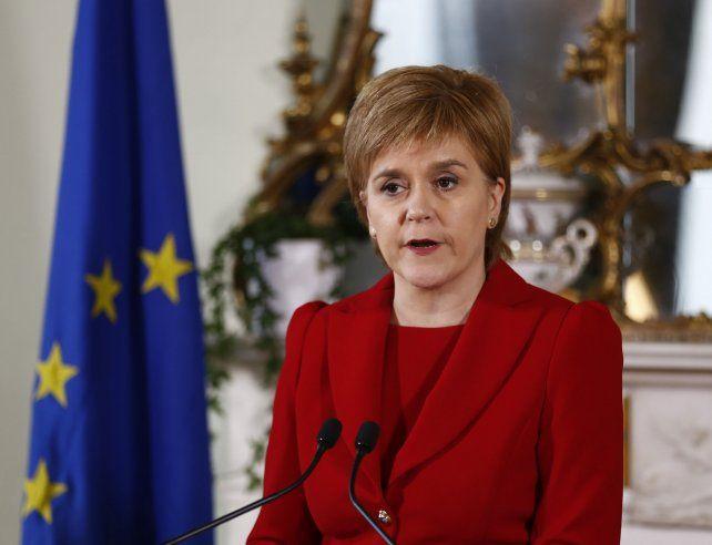 Decisión. Sturgeon pide negociar con Bruselas un lugar para Escocia.