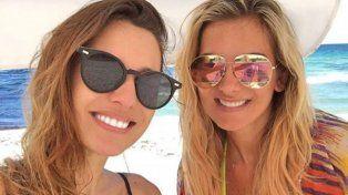 Pampita disfruta de la playa, la noche y amigas mientras la esperan en el Bailando
