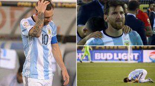 La tristeza de Lionel Messi tras fallar su penal y perder otra final con Argentina.