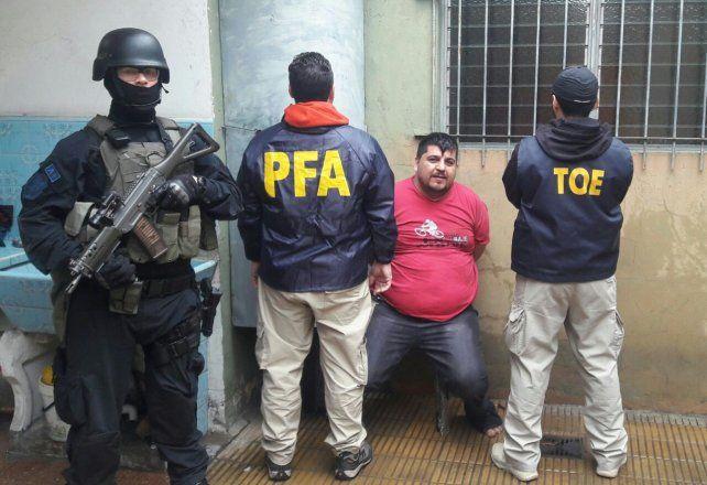 El Gordo Salomón fue detenido hoy en un operativo conjunto de la TOE y la Policía Federal.