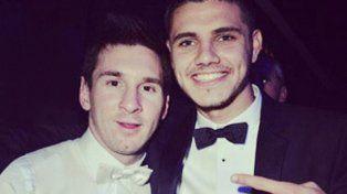 La imagen junto a Messi que publicó Icardi en las redes sociales.