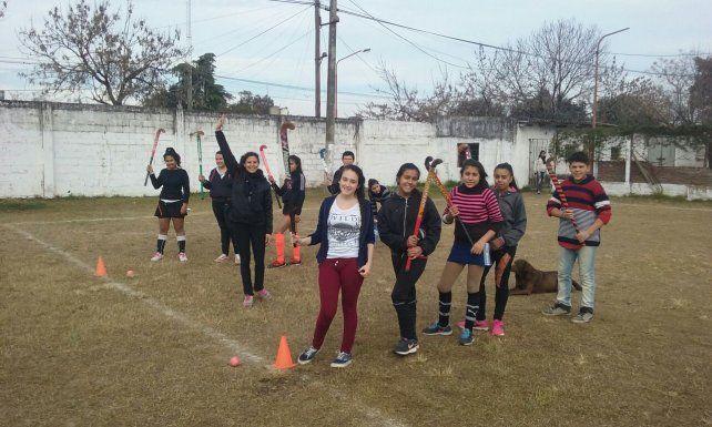 Integración. Los chicos acudieron al Club Sportivo Municipal.