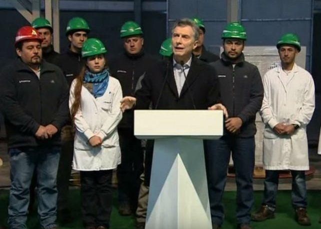 El presidente Mauricio Macri estuvo hoy en el parque industrial de Pergamino.