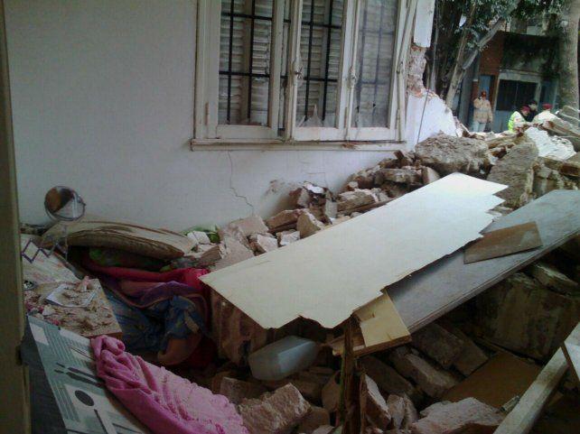Así quedó la casa lindera al laboratorio.