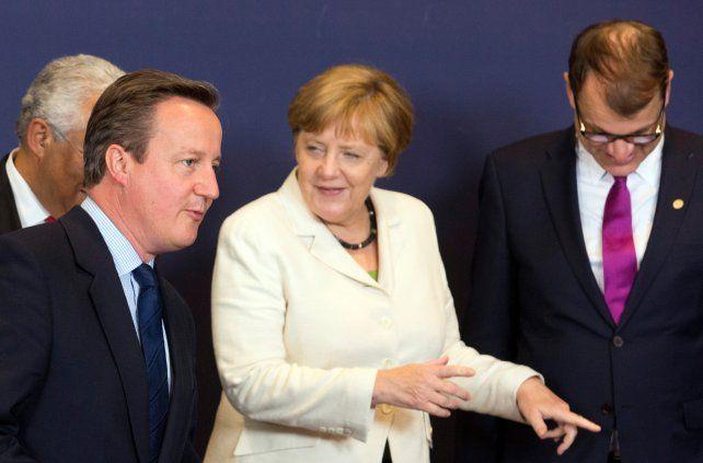 Fría recepción. El premier británico recibió en Bruselas fuertes críticas de sus pares europeos