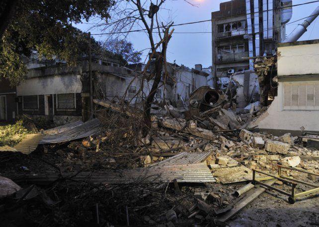 Una zona destruida. El pasaje Drumond se convirtió en una sector devastado.