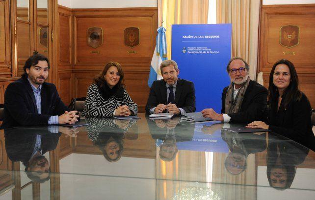La intendenta Mónica Fein se reunió hoy con el ministro del Interior