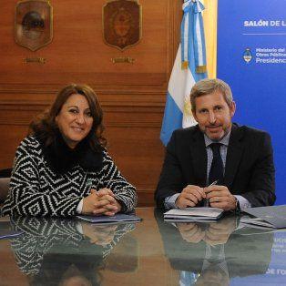 La intendenta Mónica Fein se reunió hoy con el ministro del Interior, Rogelio Frigerio.