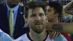 El llanto de Messi entristeció a casi todo un país