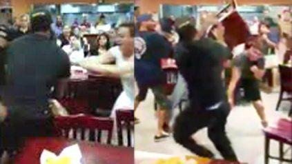 Terrible pelea en un restaurante mexicano