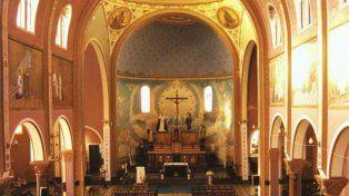 Interior de la iglesia San Cayetano, en la localidad de Suardi.