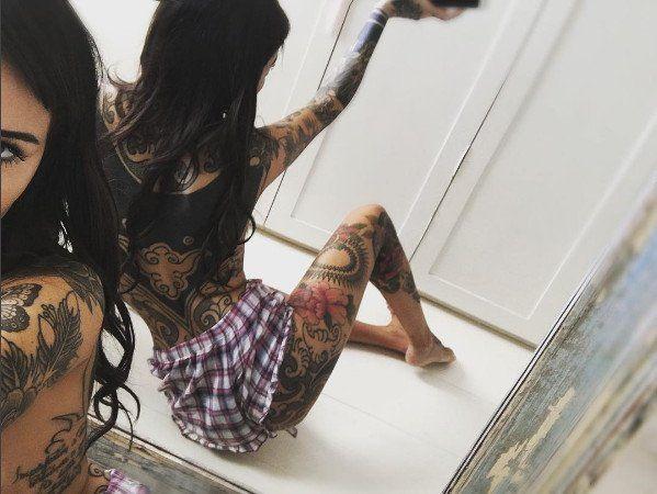Cande Tinelli volvió a sorprender con un llamativo tatuaje