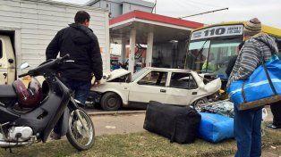 El choque se produjo en Avellaneda y seguí. (Foto vía Twitter @GonzaGiuliano)