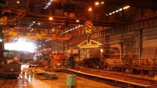 acero. La producción siderúrgica bajó en cinco meses del año.