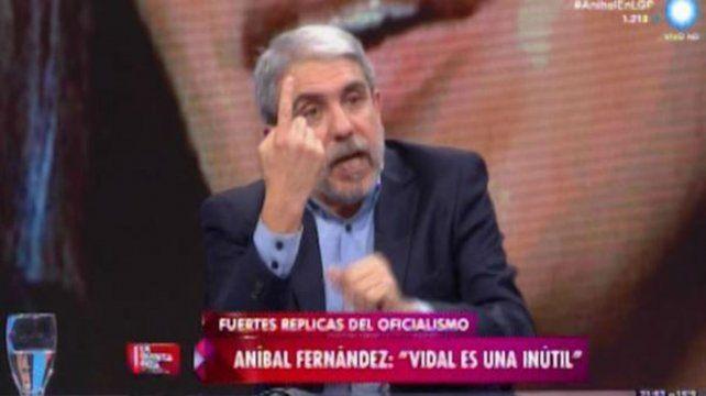 Aníbal Fernández fue invitado a la TV Pública.
