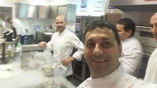 El cocinero argentino logró escapar del ataque en el restaurante.