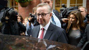 Autoelogio. El ministro de Justicia quiere liderar la salida británica de la UE y ocupar el primer puesto de gobierno.