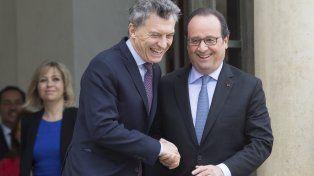 El encuentro. El presidente Macri y su par francés