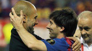 Guardiola aseguró que Messi debe quedarse en Barcelona durante el resto de su carrera