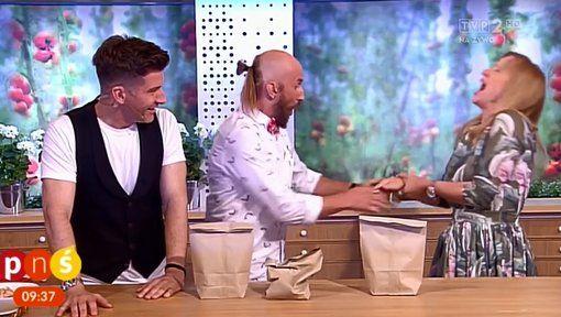 Puede fallar: a un mago le salió mal el truco y lastimó a la presentadora al aire