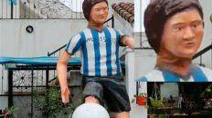 polemica en las redes sociales por la curiosa estatua de lionel messi que emplazaron en tucuman