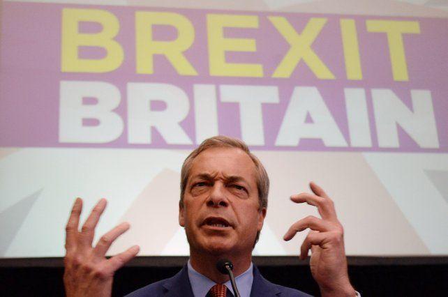Me retiro. Nigel Farage ayer al explicar que he alcanzado mi ambición política.