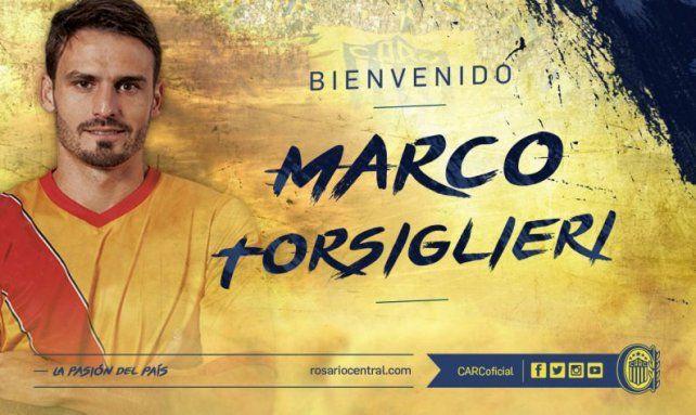 Central anunció oficialmente a Torsiglieri como el primer refuerzo