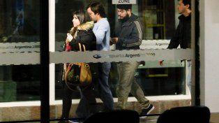 Tres de los hijos de Báez al llegar a Buenos Aires días atrás.
