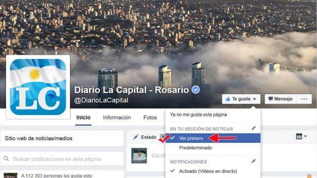 ¿Cómo podés seguir leyendo las noticias de La Capital en Facebook?