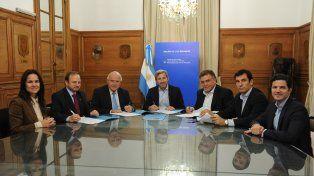Lifchitz firmó el acuerdo con Frigerio