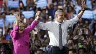 Espaldarazo. Obama y Hillary compartieron escenario en Charlotte