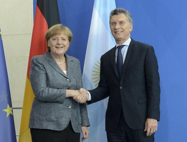 Buena sintonía. Merkel y Macri se prodigaron mutuos elogios.