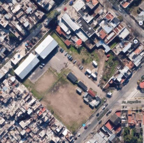 Promisorio. Vista aérea del área cedida en uso precario.
