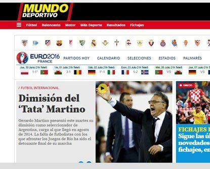 Mundo Deportivo. El diario catalán habló del detonante que causó la ida del Tata.