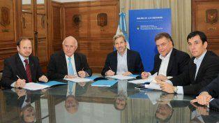 La reunión entre el gobernador y el ministro Frigerio fue ayer en Casa Rosada.