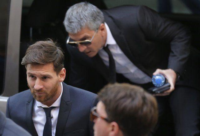 Lionel Messi y su papá Jorge en los