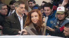 La expresidenta Cristina Fernández de Kirchner estuvo hoy en el tribunal de Comodoro Py.