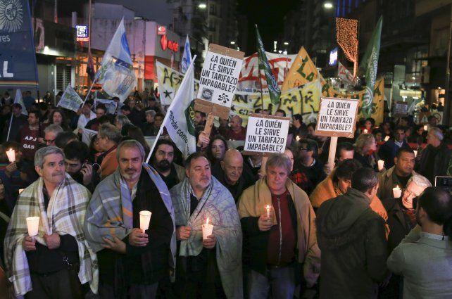 malestar social. Las protestas contra los tarifazos fueron creciendo en distintos puntos del país.