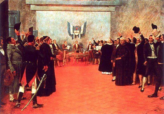 Oleo que retrata la declaración de la Independencia en la Casa de Tucumán