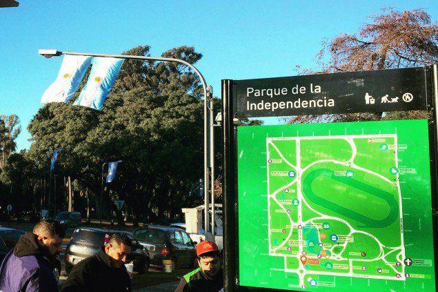 Fecha patria. El parque estará vestido de celeste y blanco.