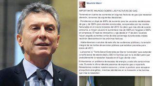 Macri destacó las medidas anunciadas para el gas y pidió moderar el consumo