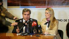 El ministro Pablo Farías y lasecretaria de Estado de la Energía, Verónica Geese.