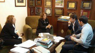 El encuentro realizado en la sede de Vialidad Nacional.