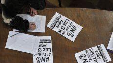 La Multisectorial junta firmas para frenar el tarifazo.