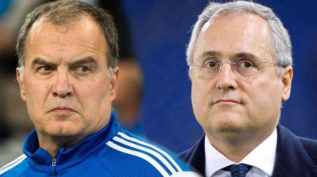 El presidente de Lazio brindó detalles del contrato que había firmado con Bielsa.