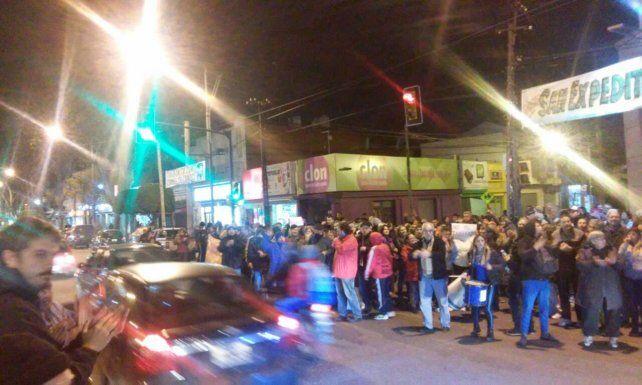 La protesta también se sintió en San Martín y Regimiento 11.